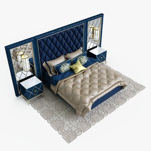 3d gatsby bedroom set cavio model