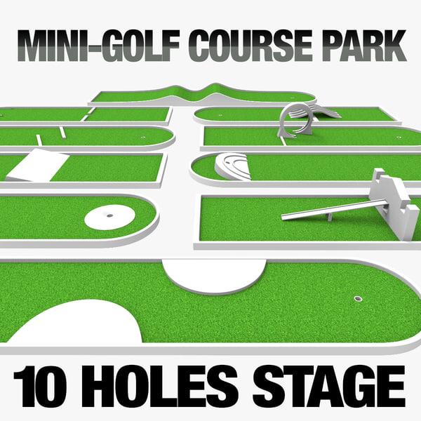 3d park mini golf model
