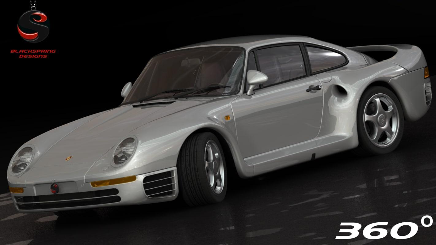 porsche 959 1987 3d max