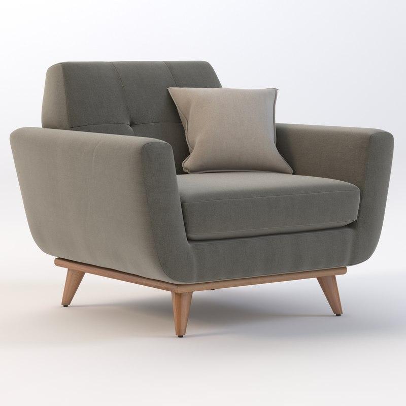 joybird hughes chair 3d model