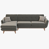 3d joybird hughes sectional model