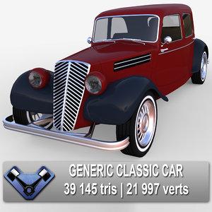 3d generic classic car oxford model