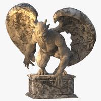3d c4d gargoyle statue