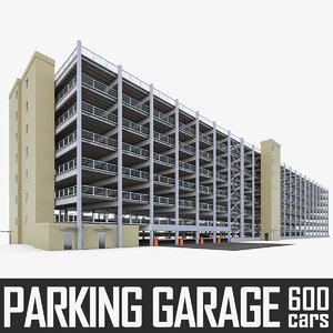 multistory parking garage 3d 3ds