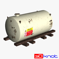 storage tank 3d obj
