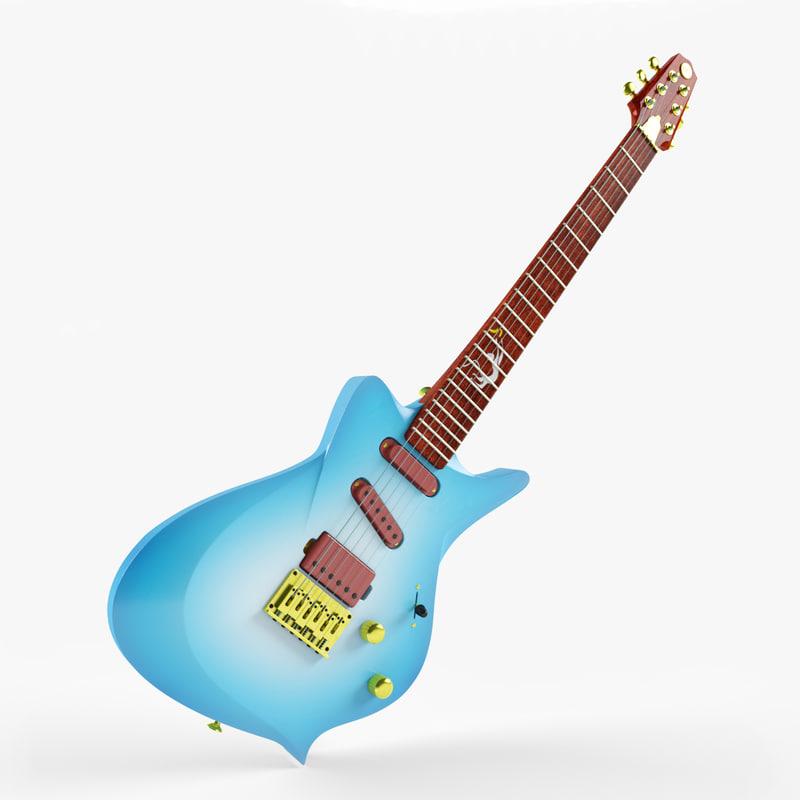 3d guitar monkey