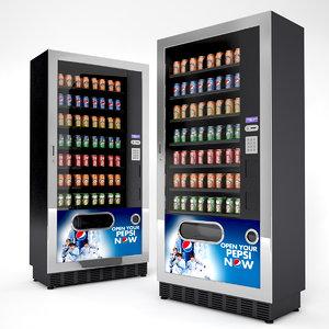 3d beverage vending machines model