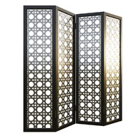 3d eastern metal folding screen model