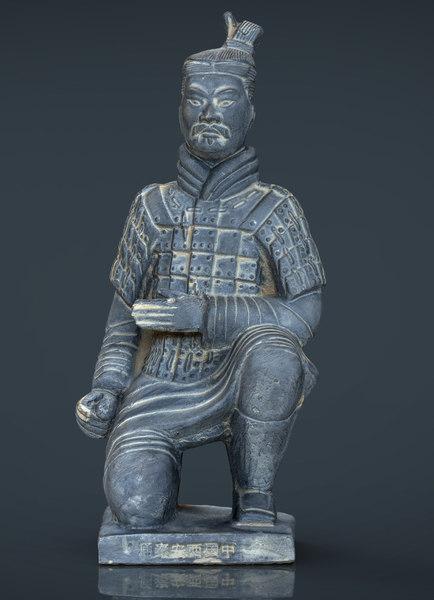 3d model terracota soldier