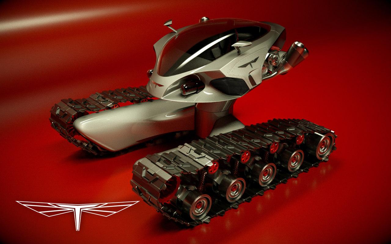 3d model tank design