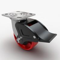 3d max caster wheel