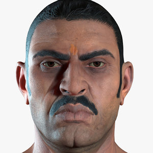 max photorealistic body indian man
