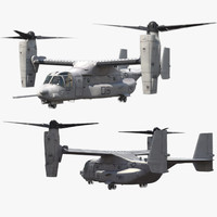CV-22 Osprey Rigged For Maya