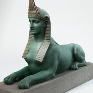 sphinx statue russia 3d model