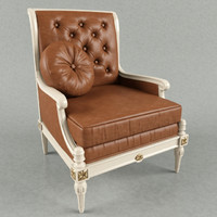 3d model classic armchair taillardat