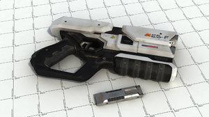 sci fi blaster obj