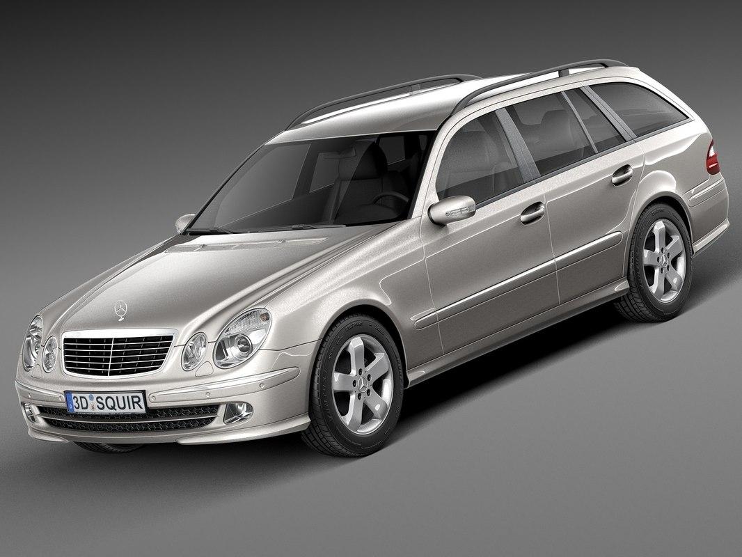 3d model mercedes mercedes-benz estate