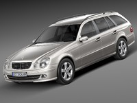 3d model mercedes mercedes-benz estate