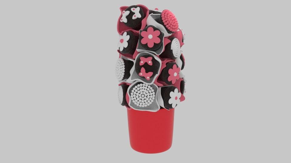 3d chocolate bouquet