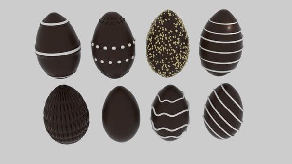 obj chocolate egg