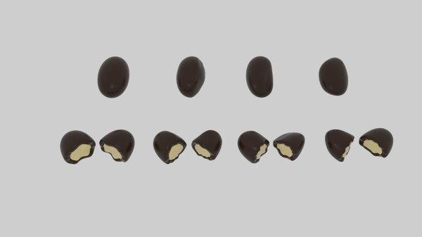 3d choco nut