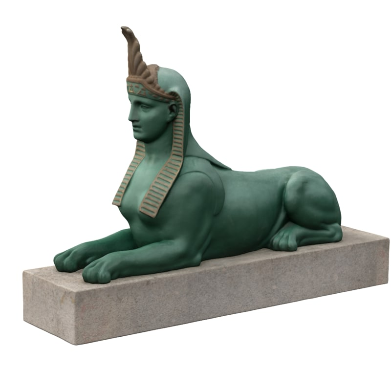 sphinx statue russia 3d model