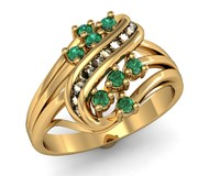 Woman's ring with natural stone.
