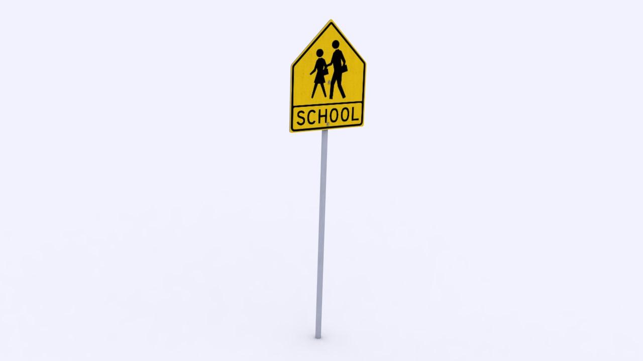 school crossing sign max