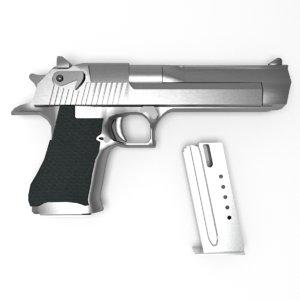 3d model of gun similar desert eagle