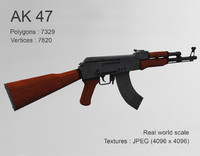 rifle 3d obj