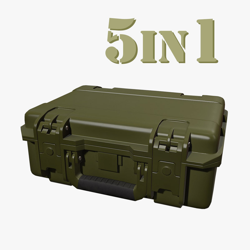 gun case 3d obj