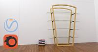 3d bookcase 60 s
