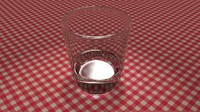 3d realistic glass water