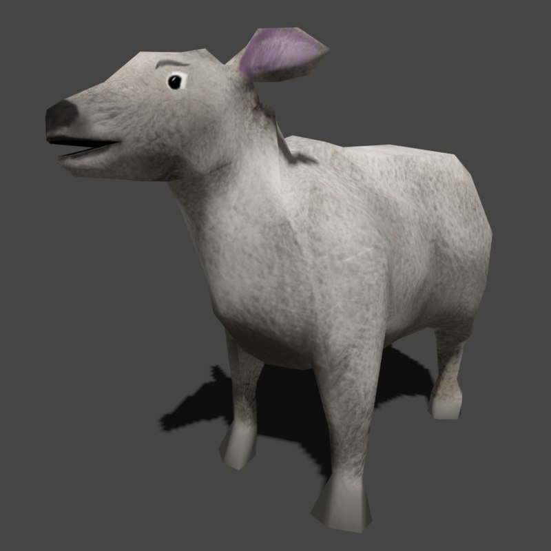 sheep ready 3d model