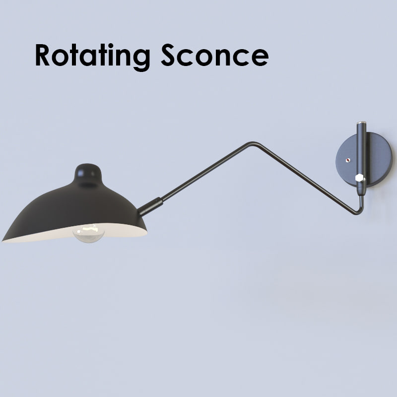 3d max rotating sconce