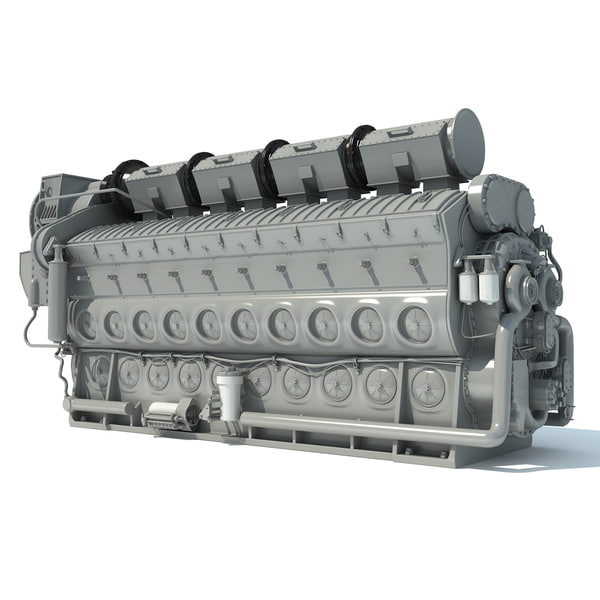3d electro-motive emd locomotive diesel engine model