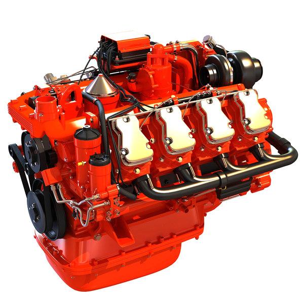 3d v8 diesel power generation model