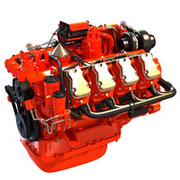 3d v8 diesel power generation model