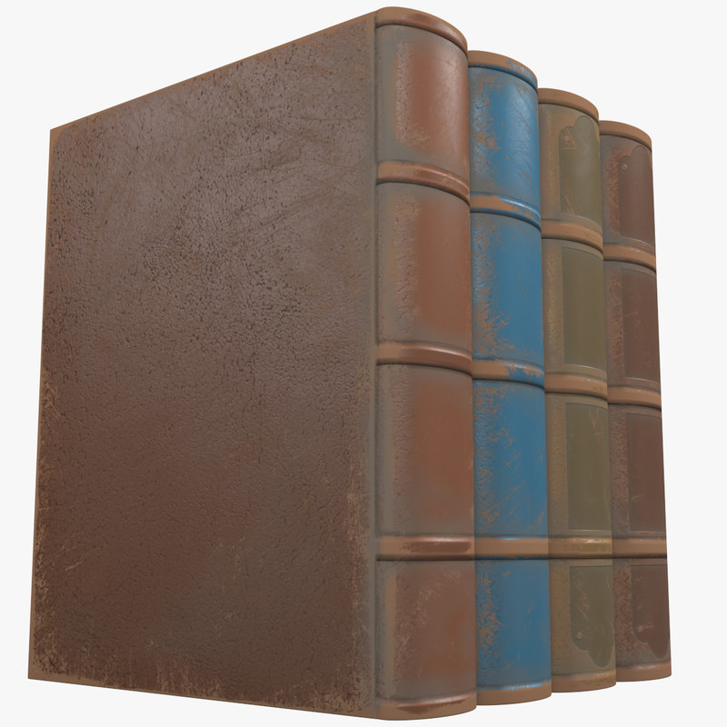 simple old books 3d max