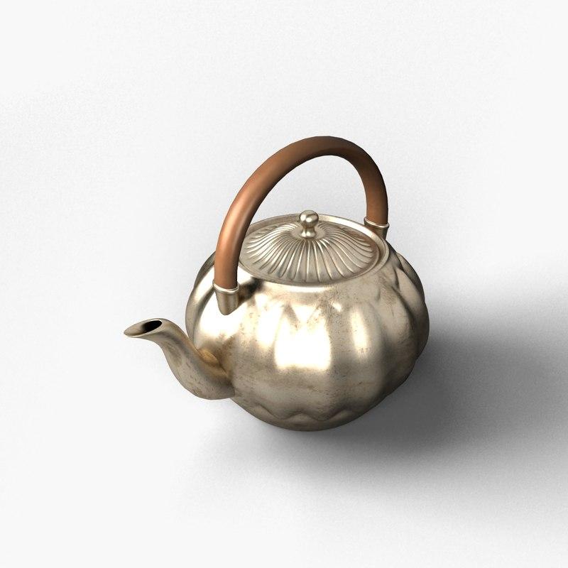obj brass kettle