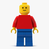 classic lego man 3d model