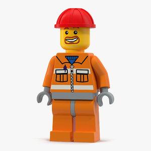 lego man builder 3d model