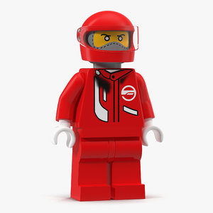 lego man fireman 3d model