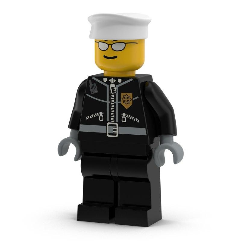fbx lego man policeman
