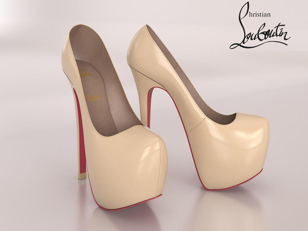 highpoly christian louboutin women shoes max