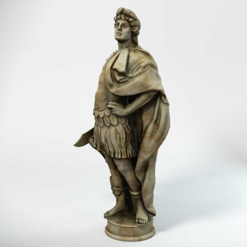 3d statue alexander great
