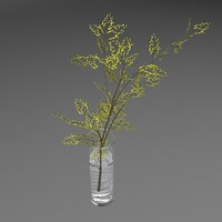 glass vase flower 3d max