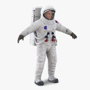 3d model astronaut nasa wearing spacesuit