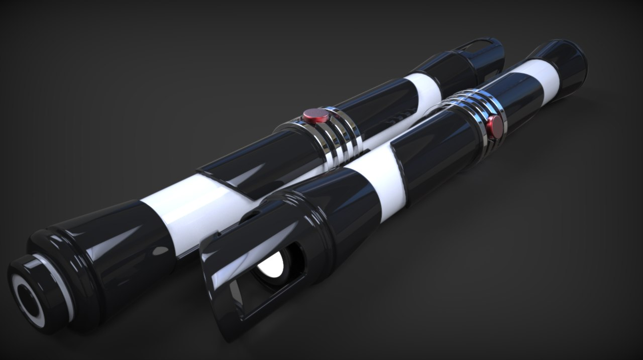 3d starkiller lightsabers model