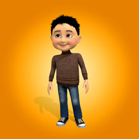 boy cartoon 3d max